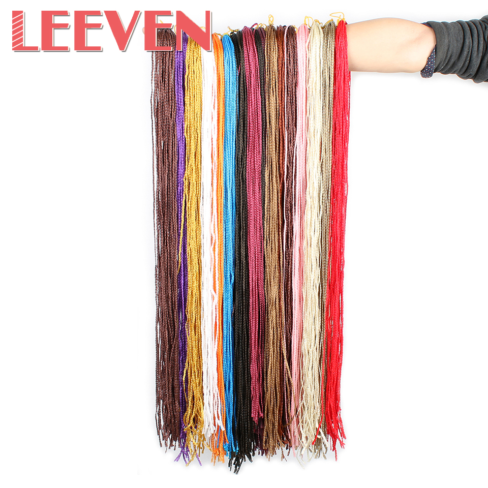 Leeven 28inch 45gpack Colorful Synthetic Box Braids Crochet Hair
