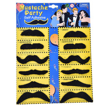 12PCS/Set Costume Party Halloween Fake Mustache Moustache Funny Beard Whisker Black Festival Novelty Supplies