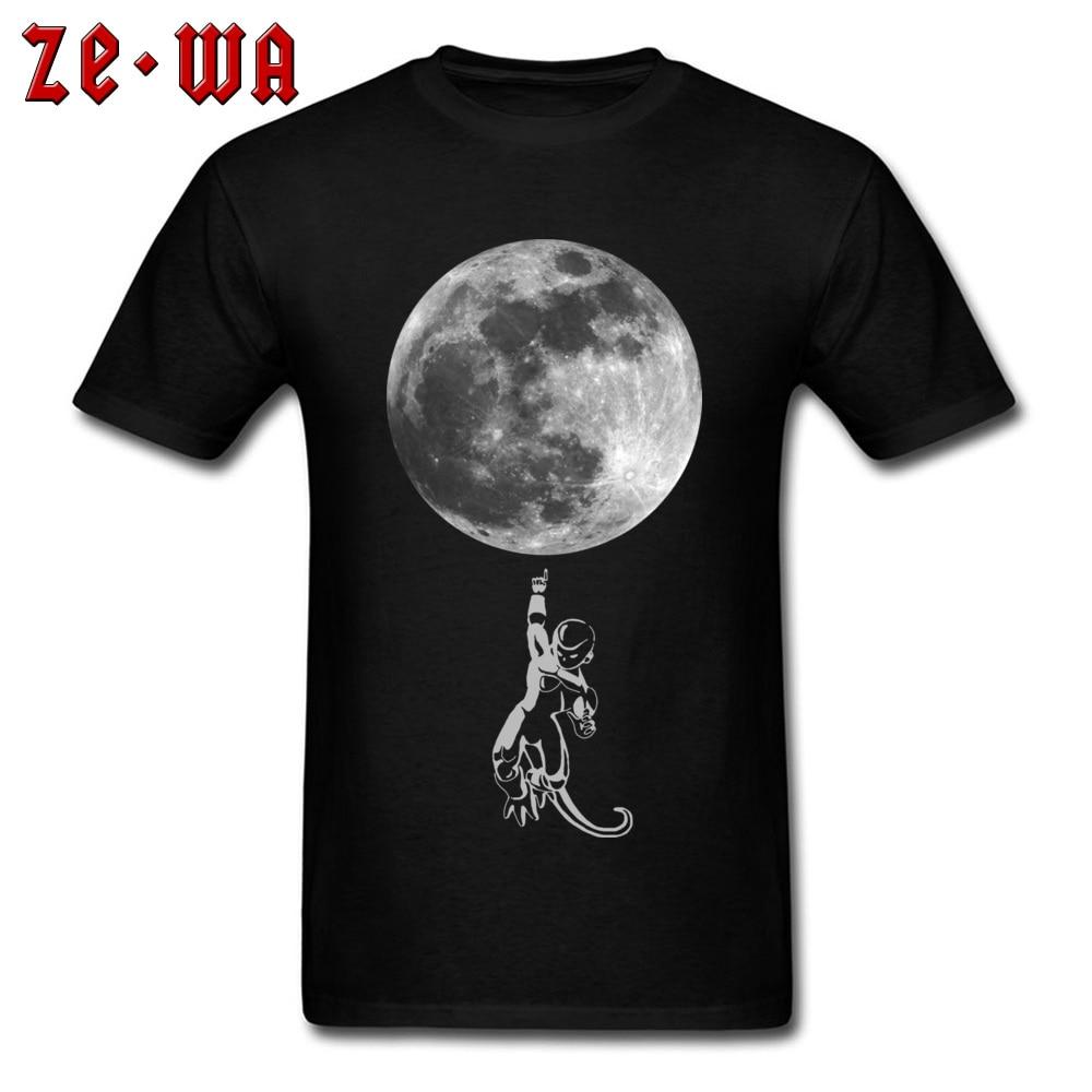 T-shirt Moon Attack! Men T Shirt Piccolo Bad Guys Tops Dragon Ball Anime Tee 3D Moon Print Clothes Teen Cotton Tshirt Custom