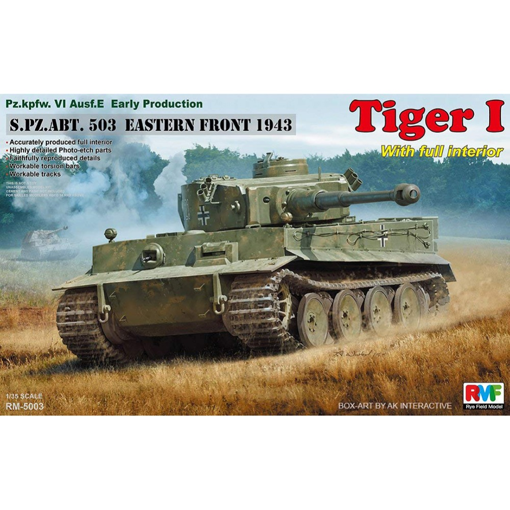 1 35 RYEFIELD MODEL RM5003 Pz kpfw VI Ausf E Early Production Tiger I Model hobby