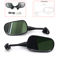Motorcycle Mirror Universal Motorbike Replacement Parts Rear View Handlebar Side Mirror On Sales Big Size Glass for yamaha honda