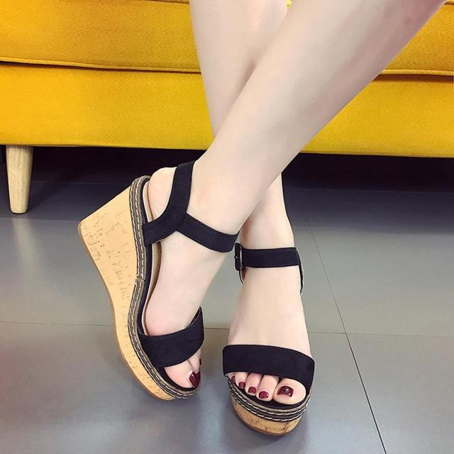 YOUYEDIAN Women Sandals Fish Mouth Platform High Heels Wedge Sandals Buckle  Slope Sandals chaussure femme  A40-in High Heels from Shoes on  Aliexpress.com ... 676bbf8a3f2d