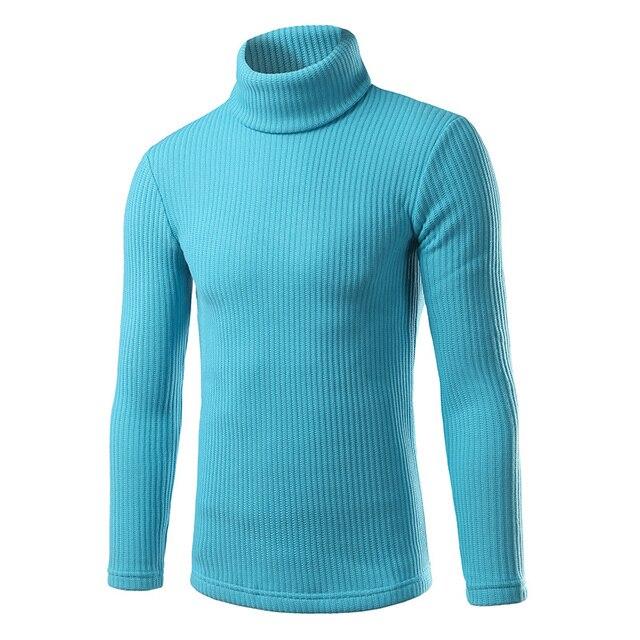 Hot selling new autumn and winter 2016 men's high collar sweater Korean Slim tide simple casual men's high collar sweater wild