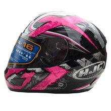 Бесплатная Доставка Корея HJC шлем мотоцикла полный шлем теплый гоночный автомобиль шлем CL-16 черный и желтый крест