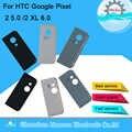 Oryginalny M & Sen dla HTC Google Pixel 2 5.0/2 XL 6.0 tylny obiektyw szklany na aparat z tyłu etui na obudowę baterii tylna klapka + samoprzylepna naklejka