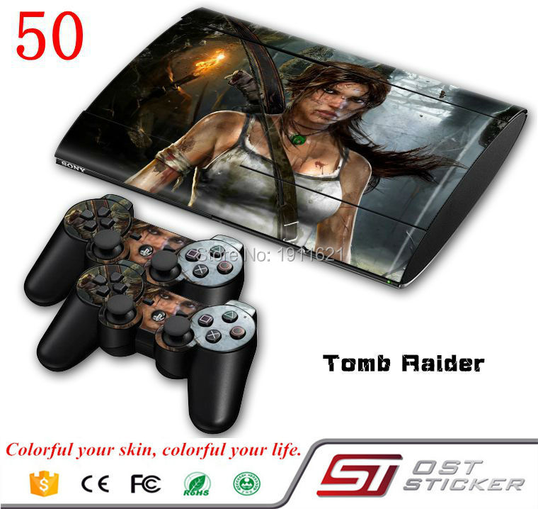 Hot Selling Products Skin Sticker For PS3 Playstation 3 Super Slim Console + Free Controllers Vinyl Decal