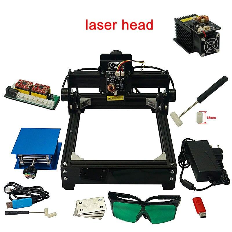 Mini Machine de gravure d'imprimante de marquage Laser USB bricolage 10 W/15 W pour l'aluminium de céramique d'acier inoxydable en métal avec la tête de laser de 10 W 15 W