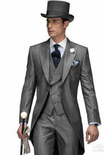 Custom Made 3PCS Tail Coat Slim Fit Suit Bridal Formal Occasion Gentleman Suits