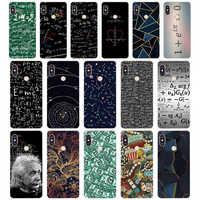 Mathematical equation Physical formula Soft Silicone Tpu Cover phone Case for xiaomi redmi 6 pro note 6 pro 5 plus 4  4x mi 8