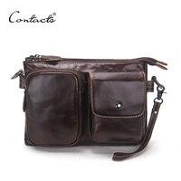 Vintage Men Messenger Bags High Quality Soft Genuine Leather Large Capacity Travel Men Bags Dollar Price