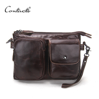 Vintage Men Messenger Bags High Quality Soft Genuine Leather Large Capacity Travel Men Bags Dollar Price
