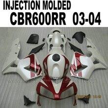 Пользовательские ABS Литья под давлением обтекатели наборы для 2004 Honda CBR 600 RR 2003 CBR600RR 03 04 cbr600 Молочно-белый красный обтекателя тела па