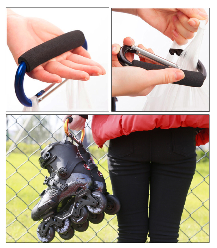 Large roller shoes aluminum alloy shoes buckle shoes multi function handle mountaineering hook roller skates accessories in Flashing Roller from Sports Entertainment