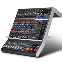 8 Channel Pure Mixer Stage Performance Conference Audio Bluetooth USB Reverb Tuner Balance Wedding Live Microphone Equipment