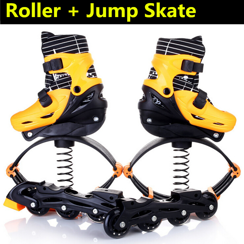 Inline Skates Jump Sports Skate Shoes for Kids Children Jumper Skating Equipment Orange Pink Size Adjustable Changeable <font><b>Roller</b></font>