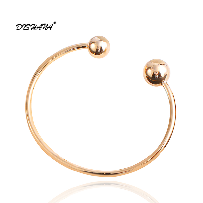 2015 Luxury Brand Gold -color Beads Ball Bangles For Women Indian Vintage Charm Bracelets Bangles (S0064)