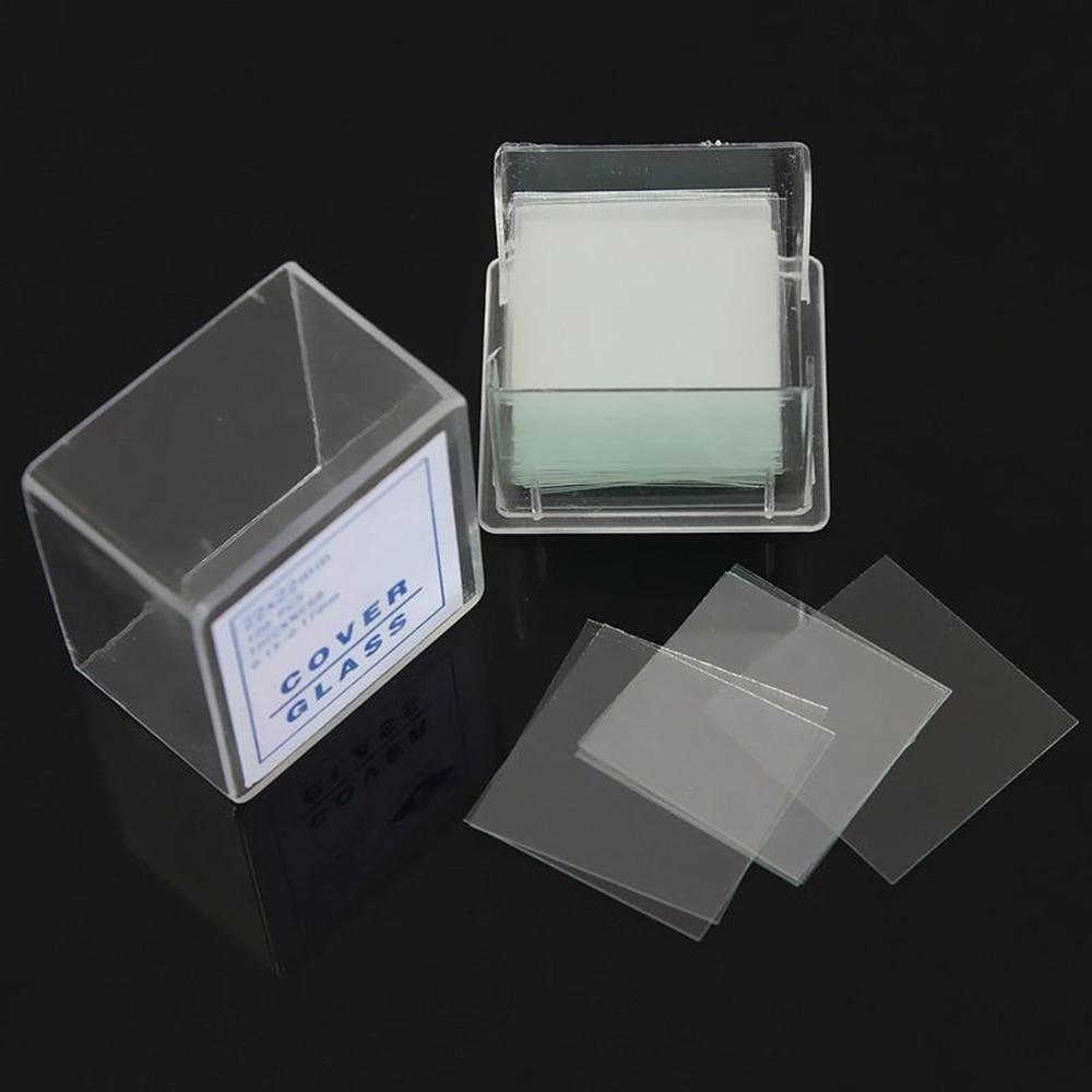 100pcs Transparent Slides Coverslips Coverslides 18x18 20x20 22x22 24x24mm For Microscope