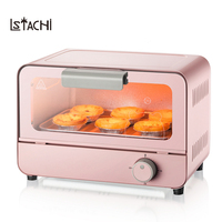 LSTACHi 2018 Newest Mini Electric Oven 6L Full Automatic Food Heater BBQ Tools Chicken Wing Cookie Cake Baking 30Min Timing
