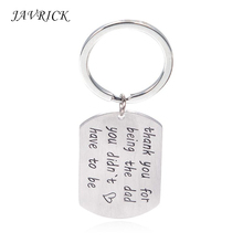 Father Day's Dad Gift Keychain Thank You for Being The Dad You Didn't Have to Be terry essig mad for the dad