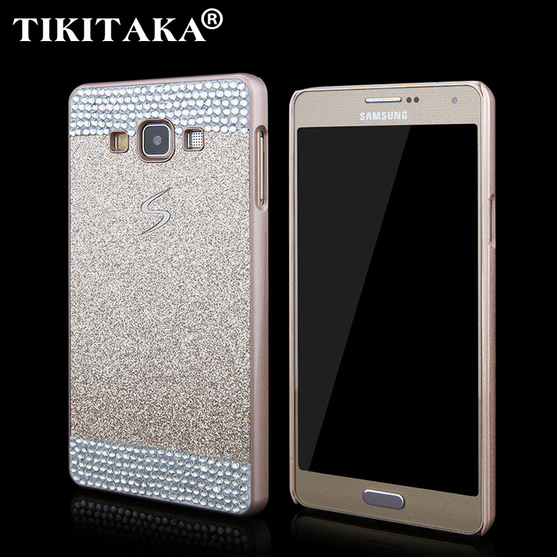 2015 New Glitter Rhinestone Powder Hard Cover Fashion Sparkle Bling Shining Phone Case Samsung A3 A3000 A5 A5000 A7 A7000 - Corcossi Science & Technology CO., LTD store