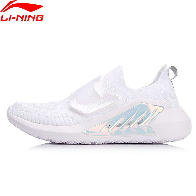 Li Ning Women EXTRA Lifestyle Shoes Mono Yarn Breathable LiNing Cushion Sport Shoes Comfort Sneakers AGLN026