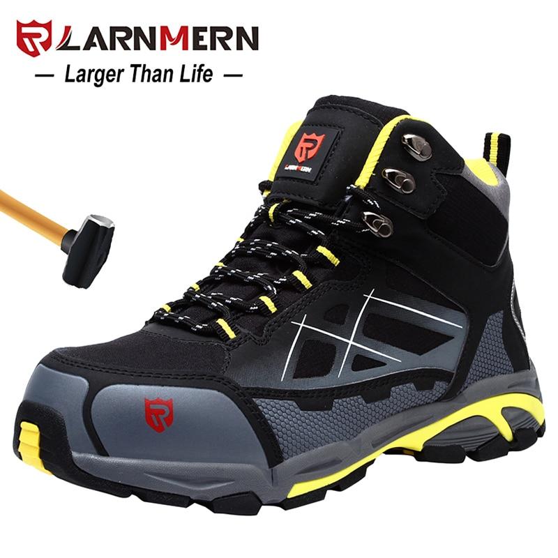 LARNMERN hommes acier orteil travail chaussures de sécurité léger respirant Anti fracassant Anti crevaison antistatique bottes de protection