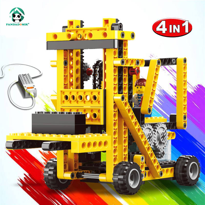 Power Machinery Technic 4in1 Building Kits Teaching Realia Learning Electronic Technical Bricks Blocks Educational Toys School teaching writing methods in afghanistan