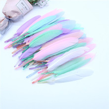 Natural Duck and Goose Feathers Plumes 4-20cm Colourful Feather for Wedding Party Clothing Decoration DIY Craft Feathers 15 20cm high quality whitel goose feather for diy colorful feather decoration wedding feathers for crafts accessories plumes