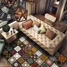 Новый американский Ретро Модный мозаичный ковер для гостиной