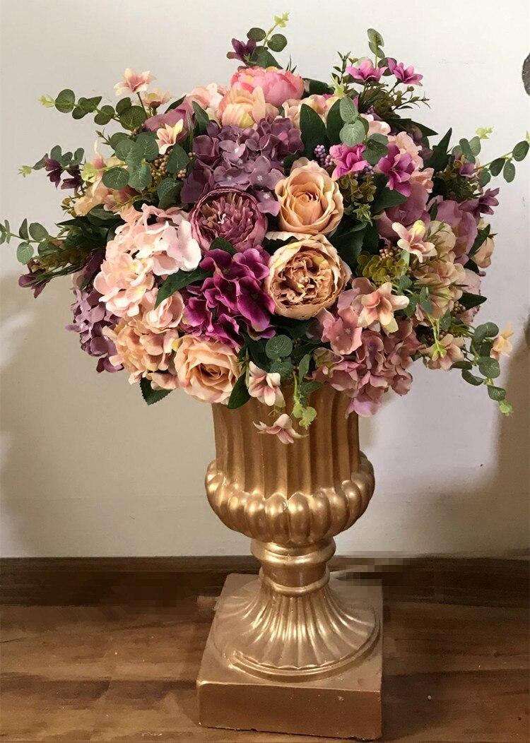 50cm dia большой Размеры Свадебный букет искусственных Таблица Центральным цветок украшения вечерние цветок реквизит 4 шт./лот
