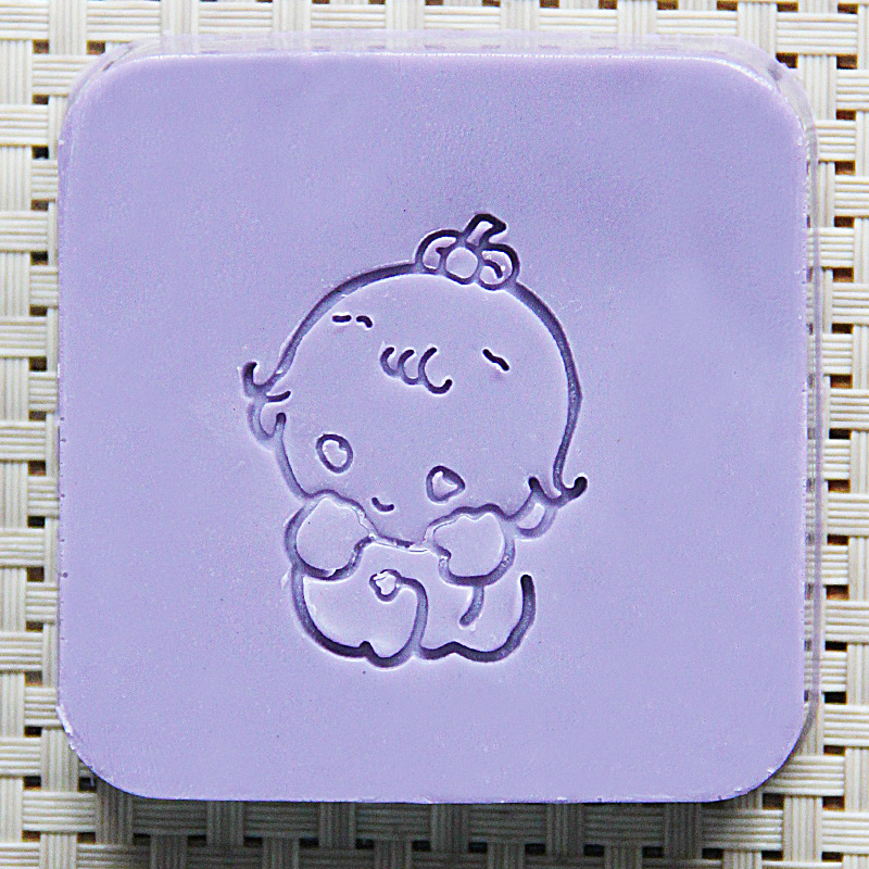 2016 free shipping natural handmade acrylic soap seal stamp mold chapter mini diy baby patterns organic glass0200 japanese korea stationery portable mini roller secrecy stamp garbled seal graffiti seal teacher secrecy stamp