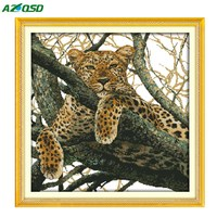 DIY Cross Stitch Paintings Counted Printed On Canvas 14CT 11CT Needlework Sets Embroidery Kits The Cheetah