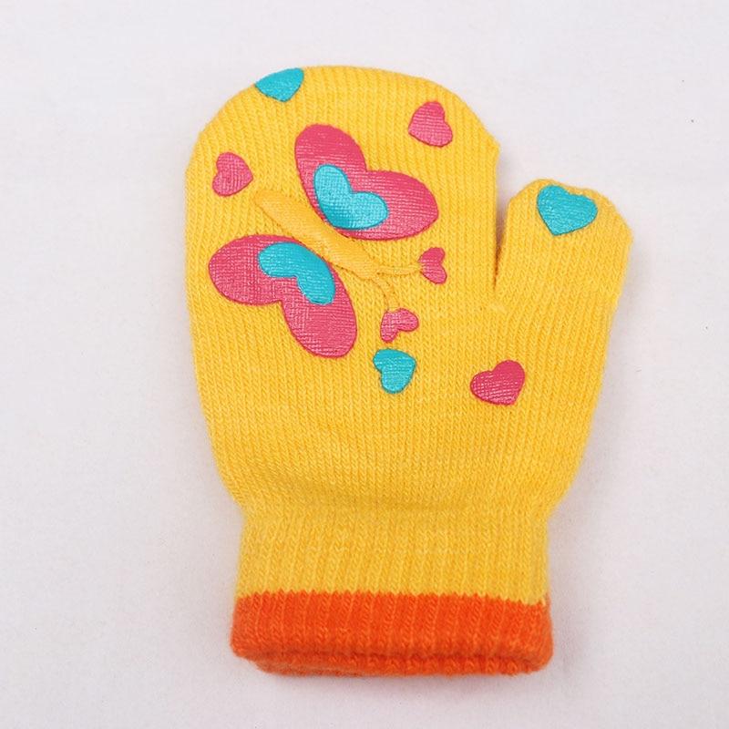 Vinter Varma Handskar Barn Strikte Vanter Barn Solid Girls Boy - Kläder tillbehör - Foto 6