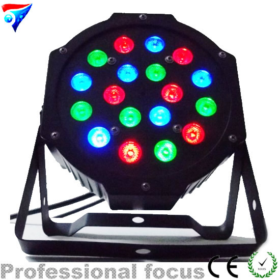 Factory direct sale Fast shipping 18 x 3W RGB DMX Stage Lights  Led Flat Par High Power Light with Professional for Party KTV DJ fast fixture clamp head packer horizontal jy203f203fl factory direct fast compactor