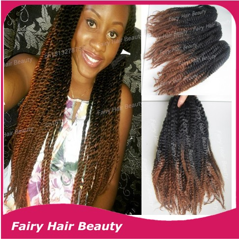 Best Sale Cheap Price 20inch Ombre Marley Twists Black Brown 1bt4