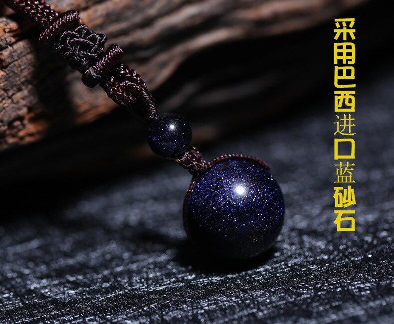 Blue sandstone pendant blue sand stone transporter the star necklace pendant
