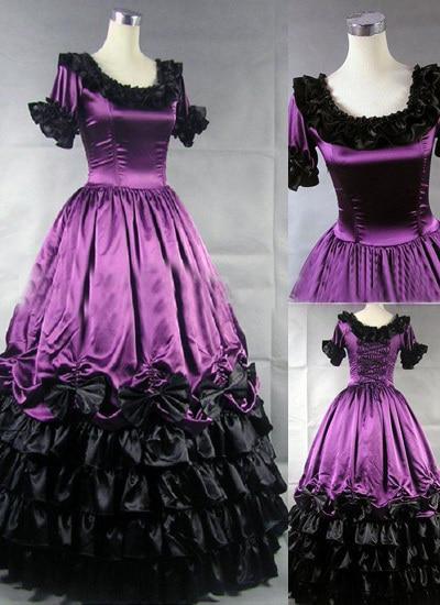 Ornate Purple Gothic Victorian Dress Victorian Era Dress