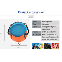 15L Ultra portable folding basin foot soaking basin wash bucket outdoor travel camping fishing can be filled with hot water bag