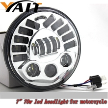 Yait 7″ Motorcycle Projector Daymaker Headlight LED Light For Harley Davison 7Inch H4 Led headlamp