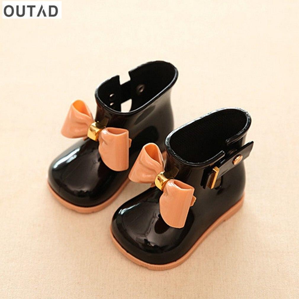 Waterproof Children Rain Boots Beauty Bow Rainboots Girls