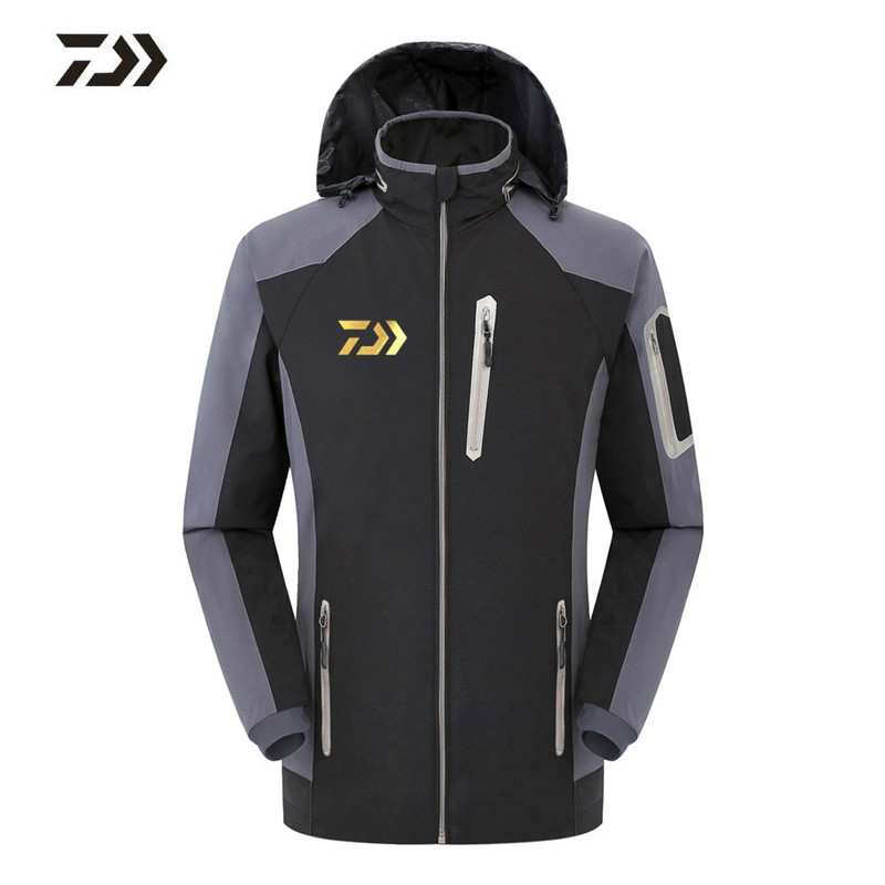 все цены на 2018 Brand Daiwa Fishing Clothing Men Autumn Winter WaterProof Jacket Hiking Hunting Clothes For Man Hooded Fishing DAWA Shirts