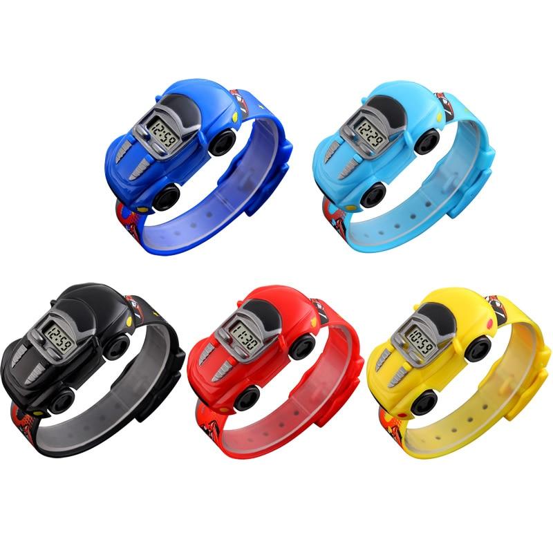 Children's Watches 3D Cartoon Car Kids Watches Cute Rubber Watch Children Clock Watches for Girls Boys Relogio Montre Enfant