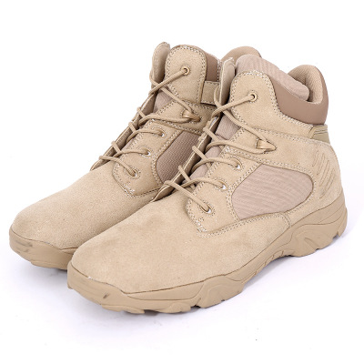 DELTA Men Hiking Shoes Military Desert Tactical Boot Army Genuine Leathe Breathable Hunting Climbing Work Shoes Ankle Boots 5