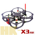 DIY FPV mini racing quadcopter drone QAV-HK X3 UFO 130 pure carbon fiber frame for 3045 3030 3 / 4 blade propeller