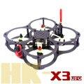DIY quadcopter drone FPV mini racing QAV-HK X3 UFO 130 puro marco de fibra de carbono para 3045 3030 3/4 palas de la hélice