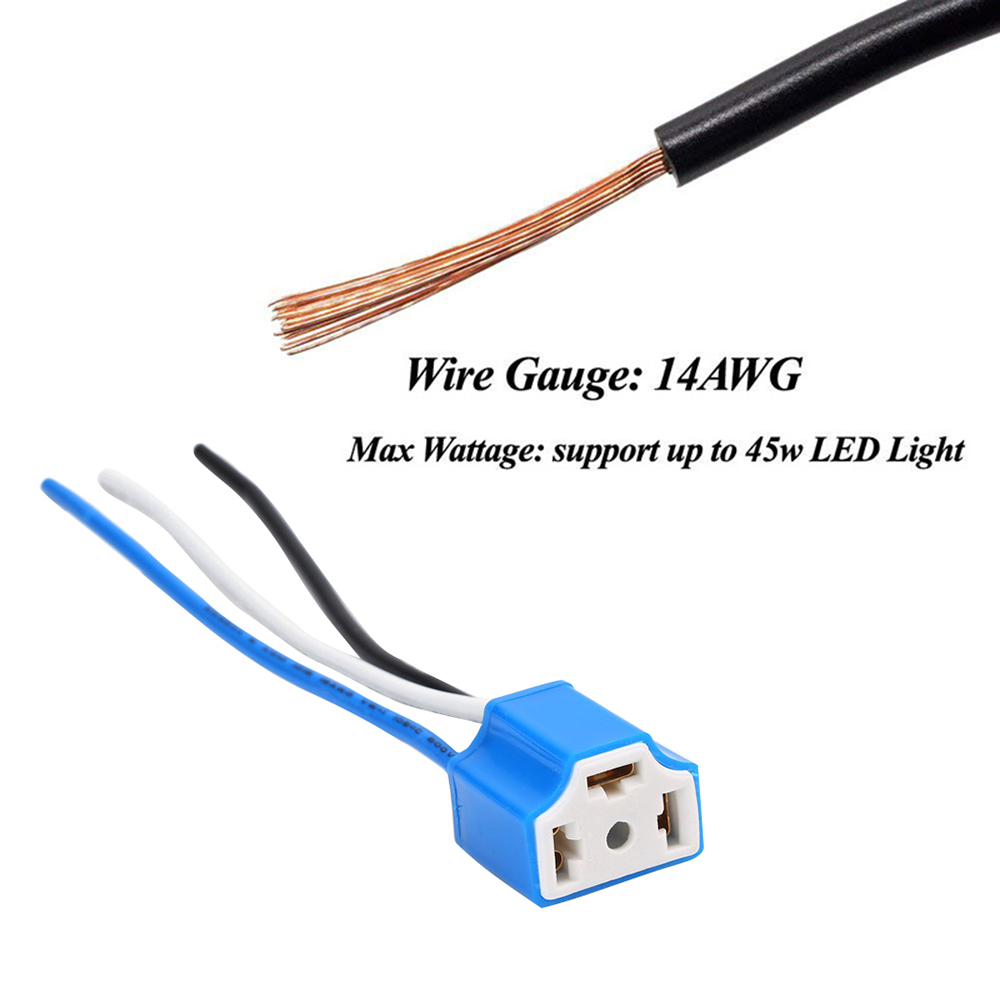 Professional 2 X H4 3 Pin Headlight Replacement Repair