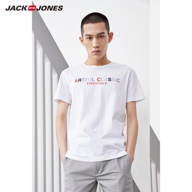 JackJones Men's 100% Cotton Printed Short-sleeved T-shirt Top Menswear 219101542