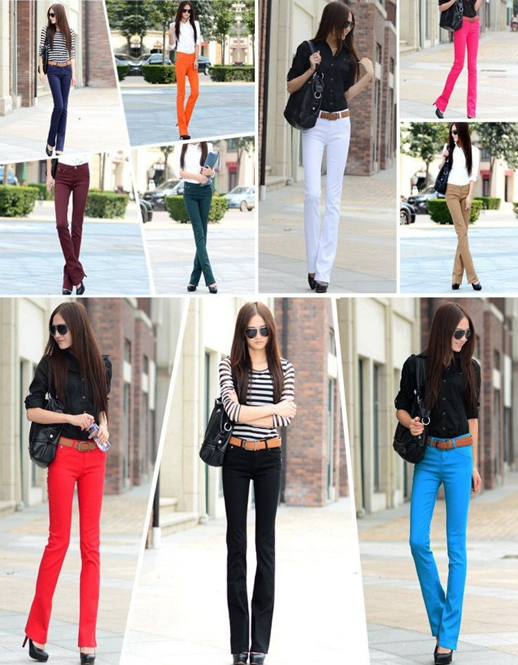 2015-Summer-Style-Women-Flare-Pants-mid-rise-Cotton-Skinny-Long-Slimming-Denim-Flare-Pants-Women (1)
