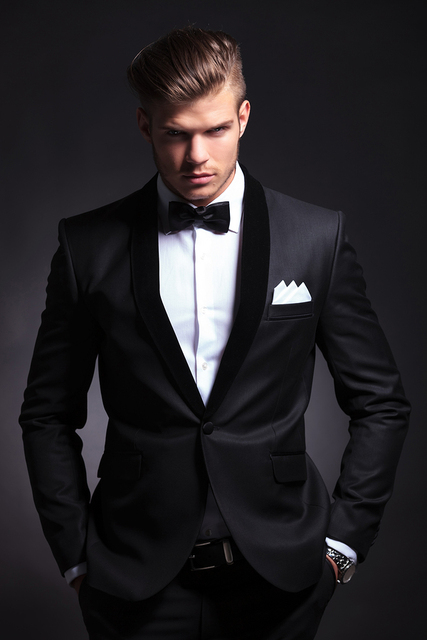 Cool man style High quality Shawl lapel Black Groom Tuxedos Suit ...