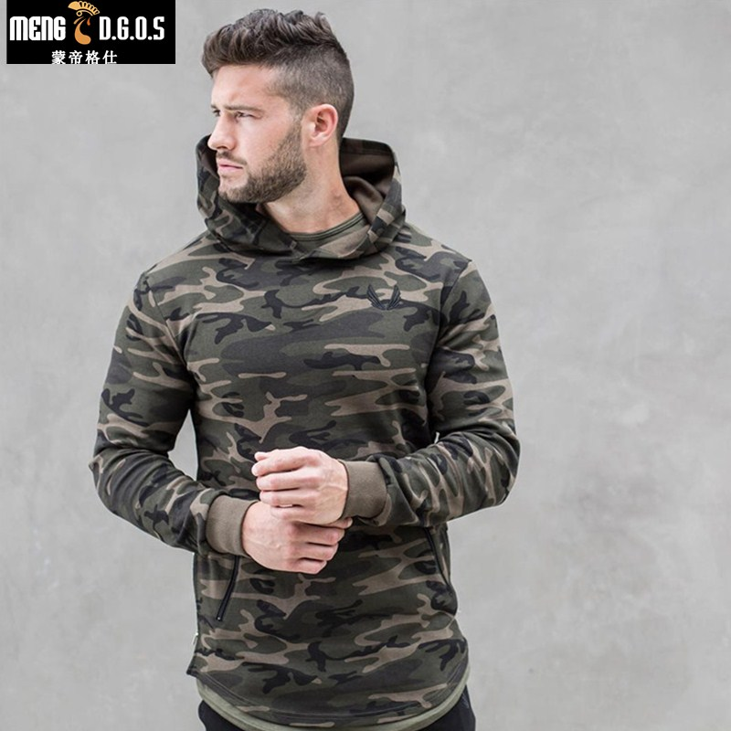 2018 New Mens Camouflage 3d Hoodies Fashion Leisure Pullover Fitness Jacket Sweatshirts Sportswear Clothing(China)
